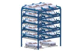 升降横移式车库(六层)